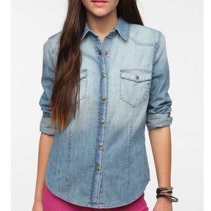UO BDG Denim Western Style Buttondown Shirt M